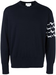 Thom Browne Dog Pattern Jumper Blue
