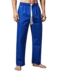 Lacoste Crocodile Print Lounge Pants Mazarine Blue