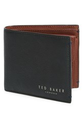 Men's Ted Baker London 'Camlock' Contrast Leather Bifold Wallet Green