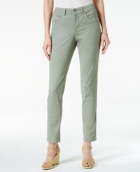 Charter Club Petite Bristol Skinny Ankle Jeans Only At Macy's Sage Green