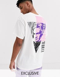 Reclaimed Vintage Beethoven Print T Shirt In White