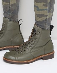 G Star Roofer Lace Up Leather Boots Green