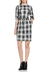 Vince Camuto Women's Two By Plaid Utility Shirtdress
