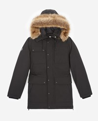 The Kooples Black Polyester Parka W Multiple Pockets