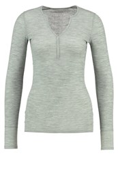 Icebreaker Butter Long Sleeved Top Seaglass Heather Oliv