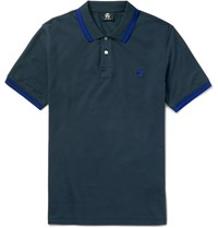 Paul Smith Ps By Slim Fit Contrast Tipped Cotton Polo Shirt Gray