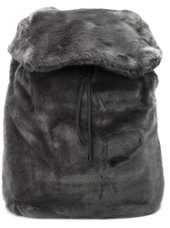Puma Rihanna Fur Effect Backpack Grey