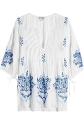 Juliet Dunn Embroidered Cotton Tunic