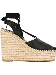 Ash 'Tracy' Wedge Espadrilles Black