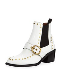 Coach Nora Chelsea Boots With Studs White