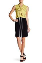 Nine West Striped A Line Skirt Black