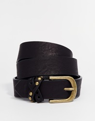 Asos Studded Keeper Jeans Belt Black