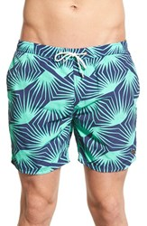 Men's Scotch And Soda Print Nylon Swim Trunks