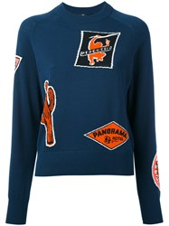 Paul Smith Ps By Intarsia Jumper Women Cotton M Blue