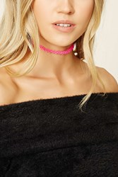 Forever 21 Tattoo Choker Hot Pink