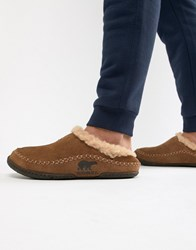 Sorel Falcon Ridge Slippers In Tan
