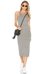 Enza Costa Rib Sheath Midi Dress Gray