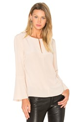 Tibi Split Neck Belle Top Peach