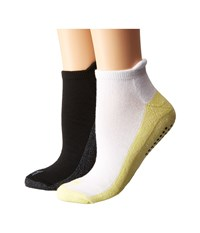 Steve Madden 2 Pack Yoga Barre Socks With Gripper Sayings White Black Women's Low Cut Socks Shoes