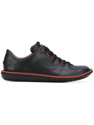 Camper Lace Up Sneakers Men Calf Leather Leather Nylon Rubber 44 Black