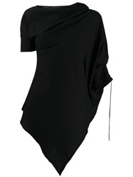 Masnada Deconstructed Tunic Blouse Black