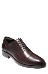 Cole Haan Men's 'Hamilton Grand' Cap Toe Oxford Dark Brown Brown Leather