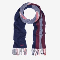 Bally Men's Wool Scarf In Dark Navy Blue