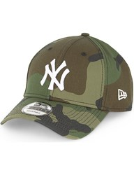 New Era Yankees Camo Cotton Cap Green