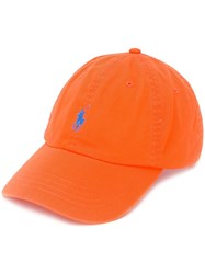 Polo Ralph Lauren Logo Embroidered Cap Orange
