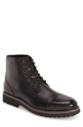 Men's Zanzara 'Northstar' Cap Toe Boot Black Leather