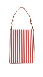Mother Of Pearl Ora Bucket Bag Red White
