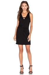 Lanston Cross V Mini Dress Black