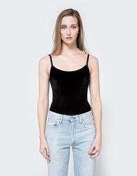 Which We Want Velvet Bodysuit Black