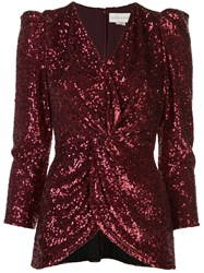 Sachin Babi And Ruched Sequin Embroidered Shirt 60