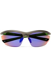 Westward Leaning Volt D Frame Rubber Mirrored Sunglasses Black