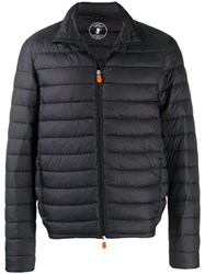 Save The Duck Zipped Padded Jacket Grey
