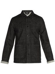 A.P.C. Point Collar Denim Overshirt Black