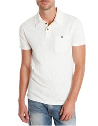 Lucky Brand Malibu Military Polo Shirt White