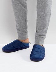 Dunlop Padded Mule Slip On Slippers In Navy Blue