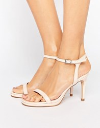 Faith Dolly Nude Heeled Sandals Nude Beige
