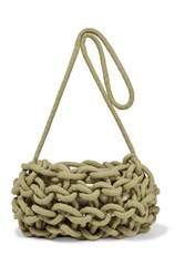 Alienina Nadia Woven Cotton Shoulder Bag Army Green