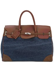 Eleventy Strap Closure Holdall Brown