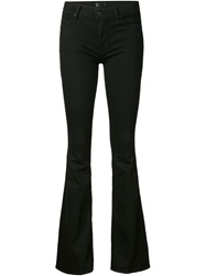 Mother Flared Trousers Black