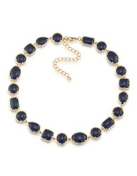 1St And Gorgeous Cabochon Stone Collar Necklace Dark Blue
