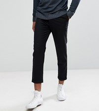 Bellfield Tall Cropped Pants With Pleated Front Black