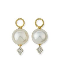 Jude Frances Lisse Large Pearl And Diamond Earring Charms