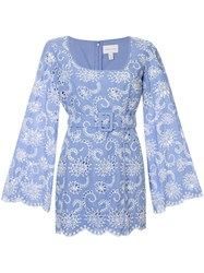 Alice Mccall Cloud Obscurity Embroidered Mini Dress 60