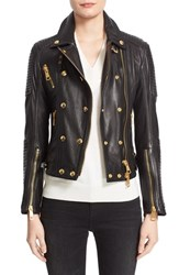Burberry Women's Brit 'Colefield' Double Breasted Leather Jacket