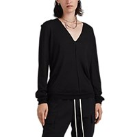 Rick Owens Cashmere V Neck Sweater Black