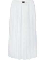 Dkny Pleated Sheer Skirt White